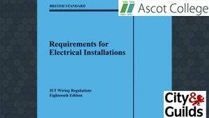 18th Edition Wiring Regulations - Exam taken at home or work - City and Guilds accredited - EVENINGS